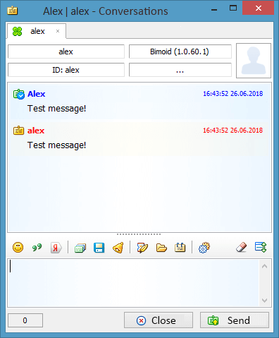 Sending a file to several people in Bimoid