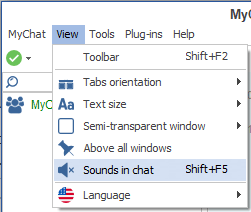 Configuring sound in MyChat 7.4